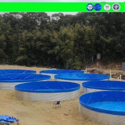 養魚場の池はさみ金のHDPEのGeomembraneのHDPEのプールはさみ金、PVC/TPU/Tarpulin/Canvasの中国の製造業者は鋼鉄水ぼうこうタンクを波形を付けた