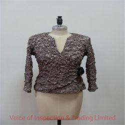 Inspección de preembarque Vestido plisado Suite/ inspección aleatoria Final Suite vestido de Zhongshan Factory