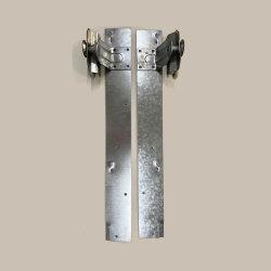 カスタムスチールシートメタル加工銀亜鉛めっきストリップ ガレージドア用ホイールアセンブリ部品