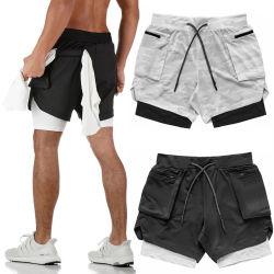 Alta Qualidade o logotipo personalizado Mens curto de compressão Sport collants calça curta corrida curta