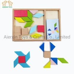 Houten DIY-vormige stukken met 20 bedrukte patronen