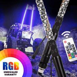 Fernsteuerungs-RGB Antennen-Peitsche-Lichter der 360 Grad-Spirale-LED