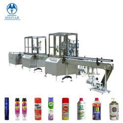 Venda Direta de fábrica lata de spray de aerossol de crimpagem de enchimento e máquina de nivelamento