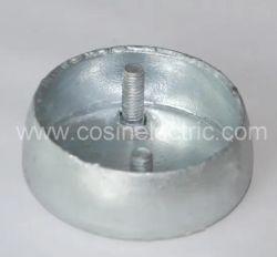 Tapa de chapa de acero para fijación aislante de poste/suspensión de cerámica
