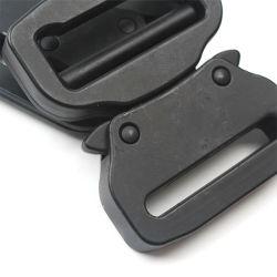 Venta caliente militar táctico de electroforesis de hebillas de cinturón negro Cobra con aleación de zinc