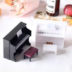 돌리 하우스 미니 플라스틱 피아노 미니어처 장면 악기 모델 칠드렌 장난감