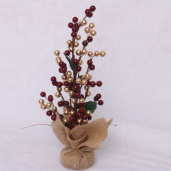 Commerce de gros arbre de Noël rouge Berry Mini Décoration maison cadeau de Noël