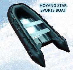 زورق مطاطي 3.3م Me زورق مطاطي شعبية ينعطف الكاياك PVC الهواء العائم قارب قابل للطي مقاوم للتآكل