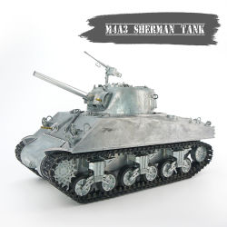 2.4GHz RC 탱크 모형 1/16 가늠자 Sherman M4a3 주요 전투 군 탱크 모형