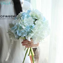 Comercio al por mayor blanco de seda artificial Hortensia Flores artificiales MW52222
