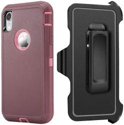 Defender el caso para el iPhone Xs Max Belt-Clip caso funda resistente de cuerpo completo el caso de servicio pesado, el Shock/CAE/prueba de polvo 3en1 Tapa rígida de protección de iPhone Xsmax