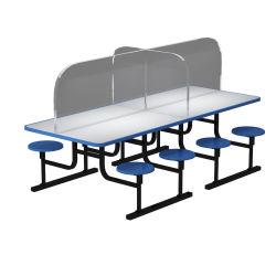 Mesa de jantar da placa de isolamento espirro de protecção Partição de proteção de evitar o alastramento da saliva Secretária claro em acrílico de mesa