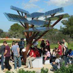 Intelligenter Park angeschaltene bekanntmachende Treeand USB-Solaraufladeeinheit für Telefone mit LED-Beleuchtung