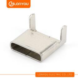 Los clips de bandas de acero inoxidable para 9.5~32.0 mm de ancho Strapping