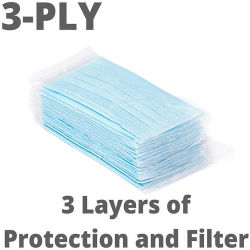 Filtre 3-Ply écran facial Masque de protection personnelle contre l'oeil Spittle Dust-Proof écran facial avec contour
