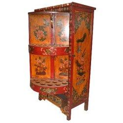 Antiek Meubilair - Tibetan Kabinet van de Wijn (GJ013)