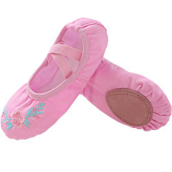 Meninas'/mulheres Ballet de bordar calçados chinelos de Dança Ballet de lona sapatos de dança Ballet Dance