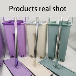 Accueil prix d'usine plancher de la cuisine en microfibre de balai plat Mop Squegee Home Depot avec la benne