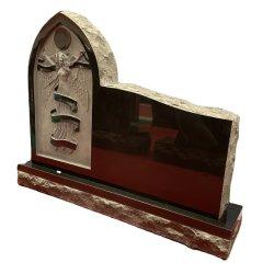 세일 중 툼스톤 기념물 블랙 그래나이트 스톤 조각 천사 묘비
