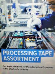 エレクトロニクス産業の製造工程のための白い処理テープ二重側面テープ