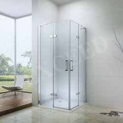 تصميم ألمانيا دش ذو باب زاوية 6 مم زجاج مزدوج مفصلي غطاء دش الباب