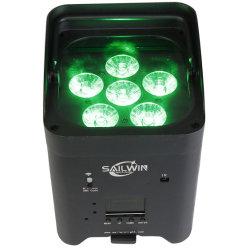 EU ストック 6X18W 6in1 Rgbaw UV APP モバイルステージ LED パーライト( Par Light