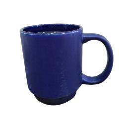 Haut Grade de gros de grès de vitrage Mug couleur de bureau