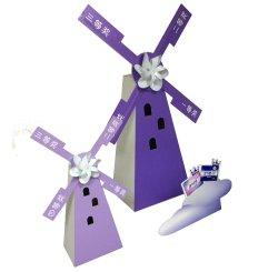 Вращающиеся картон Standee дисплей с лотков для бумаги и пластика ветряной мельницы