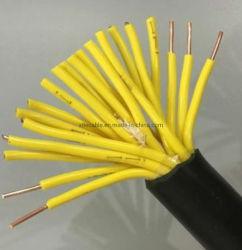 450/750V 19 Kern 1 mm2 de pvc Geïsoleerde Kabel van de Controle Kvv