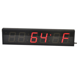 4 pulgadas al aire libre de 6 dígitos del reloj LED Digital Indicador de temperatura