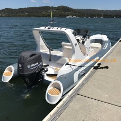Liya Luxus Rib Boat 580 Hypalon Aufblasbares Angelboot Wasser Speed Sport Boote zum Verkauf