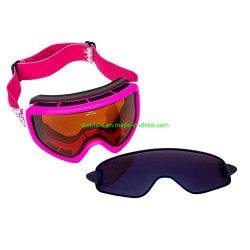 191E02 Anti-Fog lentille double couche Hommes Femmes Les lunettes de ski UV400 Lentille de vérin 3-couche de mousse de lunettes de neige magnétique
