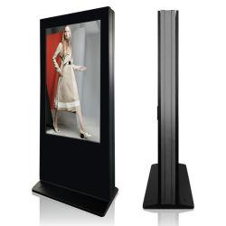 55인치 방수 광고 토템 키오스크 디지털 사이니지 플레이어 WiFi 실외용 LCD 스탠드 디스플레이 쌍면