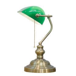 M-1099によっては寝室の居間の引き鎖の緑の銀行家の卓上スタンドが家へ帰る