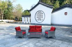Sofà di vimini 4PCS stabilito del rattan della mobilia del giardino esterno del patio