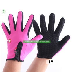 La moda Antiskid Guantes de Deportes de la pantalla táctil de esquí, además de guantes de terciopelo