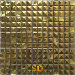 فسيفساء من المعدن الذهبي ثلاثي الأبعاد فاخر من الفولاذ المقاوم للصدأ تجانب فسيفساء من الألومنيوم المتجانب للبيع