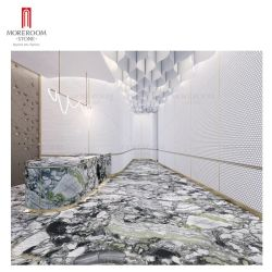 Kalte Jade Klassischer Marmor Porzellan Große Größe Sinterstein Hintergrund Verkleidung Wohnzimmer Hotel Innen-und Außendekoration Customized Marmor Scheibe