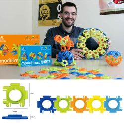 Эбу АБС Modulmax 3D-строительные блоки DIY игрушки 60ПК (10274043)