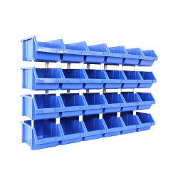 مخزن كبير الحجم للخدمة الشاقة وقطع غيار المرآب الصناعية علب الالتقاط القابلة للتكديس من البلاستيك للأدوات