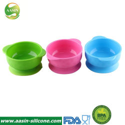 BPAはワイプの吸引のコップベースが付いているきれいなシリコーンの赤ん坊の子供ボールを容易に放す