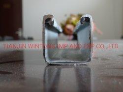 Béquille d'acier galvanisé à chaud canal avec le trou perforé /canal Unistrut / Chaîne en acier de la béquille /Canal / de la béquille de l'acier du système de soutien de canal
