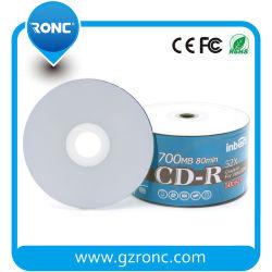Оптовая торговля дешевые белого цвета для струйной печати чистых дисков CD-R 700 МБ 80мин 52X
