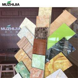 Marbre artificiel de panneaux muraux de pierre décorative en plastique de l'intérieur du Conseil d'UV