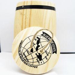 Цельной древесины Custom-Made немолотого кофе гильзу цилиндра экструдера хранения древесины