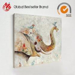 Elefante precio mayorista de pared pintura arte pinturas de aceite (LH-M170716)