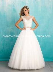 10% di sconto sulle maniche cappe collo di Jewel lunghezza pavimento abito da sposa (DREAM-100018)