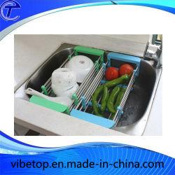 Новейший корпус из нержавеющей стали кухонные принадлежности складной блюдо сушки для установки в стойку