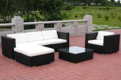 옥외 정원 안뜰 Furniture Popular Rattan Sectional Sofa (8201-47sets/40'HQ)
