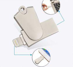 قارئ بطاقات HD لمحرك الأقراص Mini الدوارة لنظام iOS بطاقة دعم TF/SD (OM-R005)